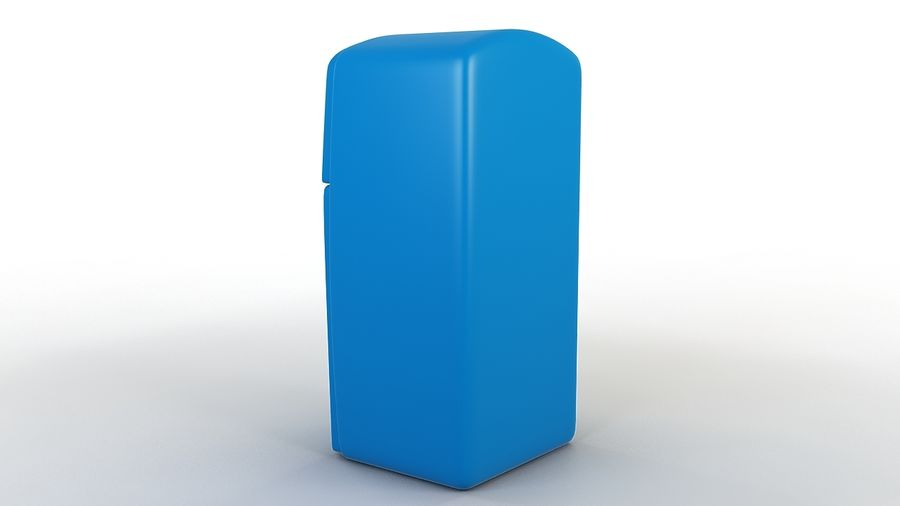 Cartoon Refrigerator royalty-free 3d model - Preview no. 5