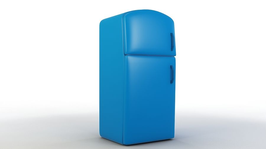 Cartoon Refrigerator royalty-free 3d model - Preview no. 1