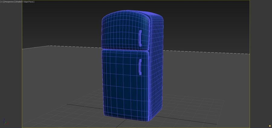 Cartoon Refrigerator royalty-free 3d model - Preview no. 6