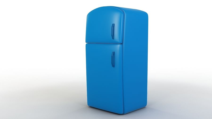 Cartoon Refrigerator royalty-free 3d model - Preview no. 3