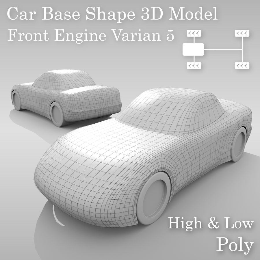 Variante layout di base FR per auto 5 royalty-free 3d model - Preview no. 1