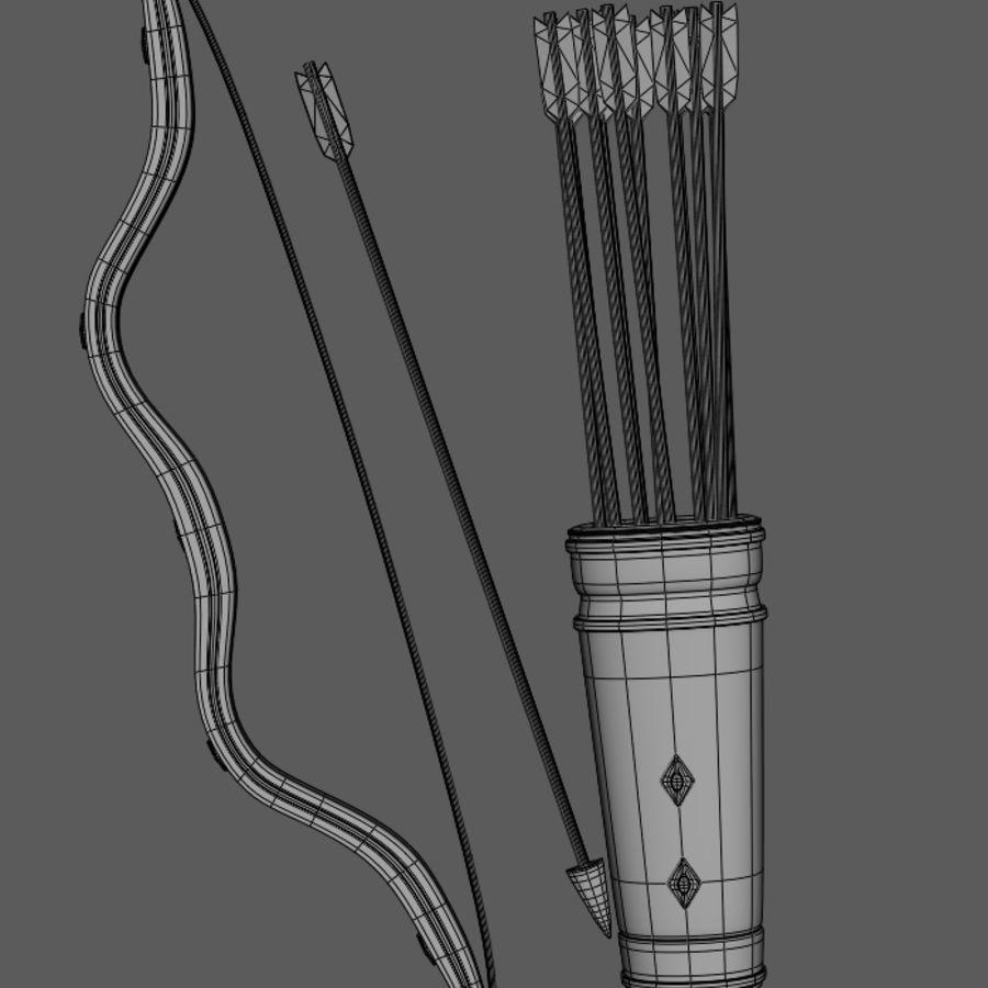 Arco y flecha medievales royalty-free modelo 3d - Preview no. 9