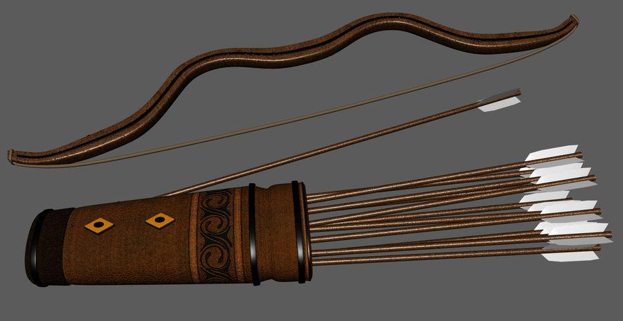 Arco y flecha medievales royalty-free modelo 3d - Preview no. 4