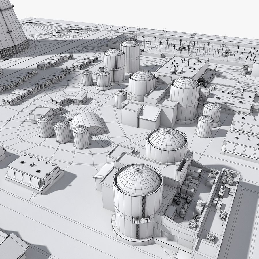 Watts Bar Nuclear Plant royalty-free 3d model - Preview no. 13