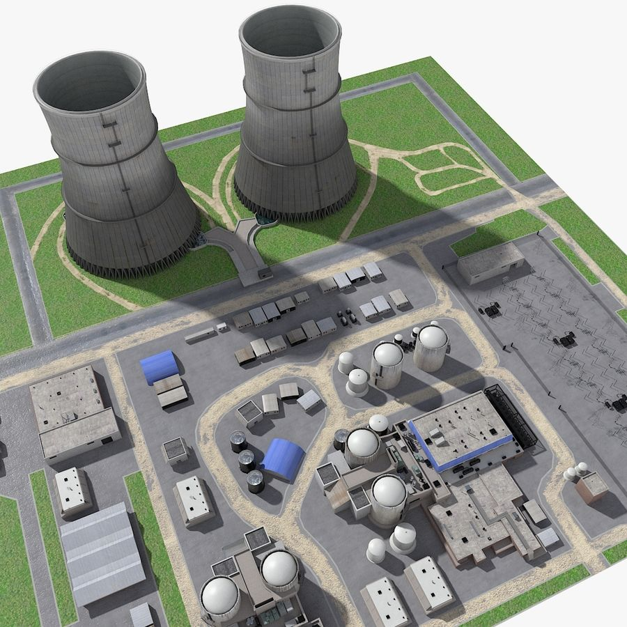 Watts Bar Nuclear Plant royalty-free 3d model - Preview no. 5