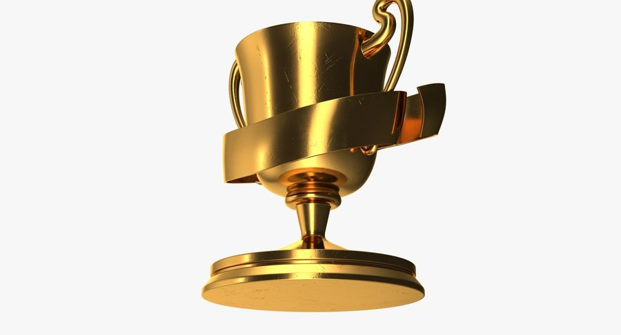 Trophy 2 Cup royalty-free 3d model - Preview no. 8