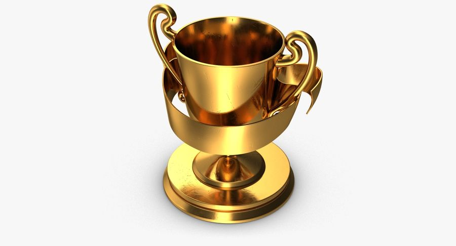 Trophy 2 Cup royalty-free 3d model - Preview no. 5