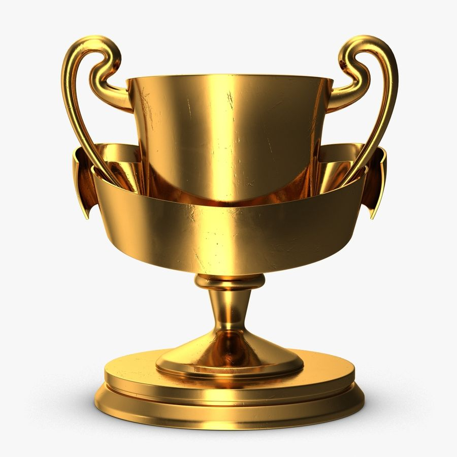 Trophy 2 Cup royalty-free 3d model - Preview no. 1