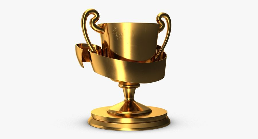 Trophy 2 Cup royalty-free 3d model - Preview no. 4