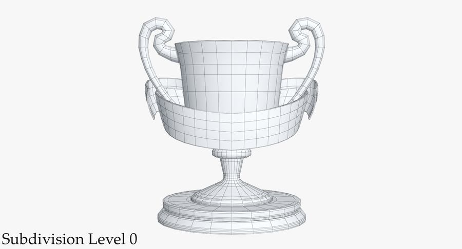 Trophy 2 Cup royalty-free 3d model - Preview no. 10