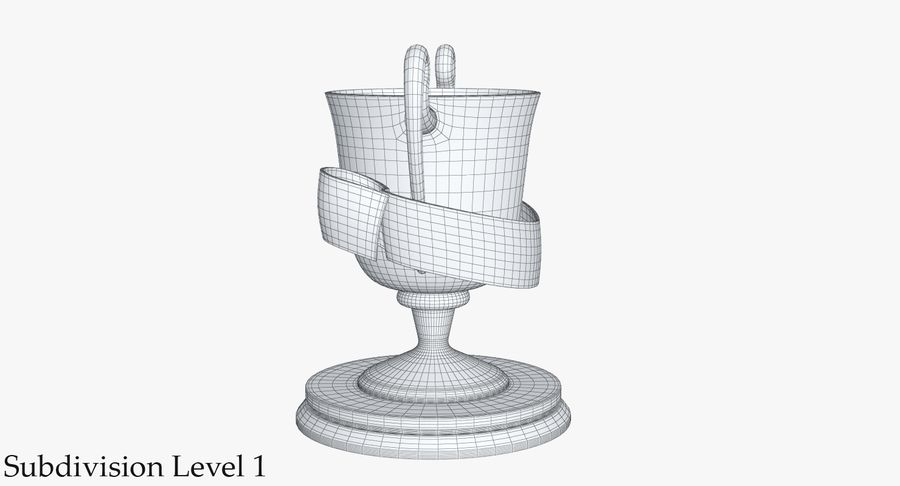 Trophy 2 Cup royalty-free 3d model - Preview no. 13