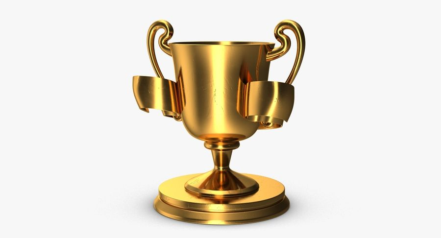 Trophy 2 Cup royalty-free 3d model - Preview no. 7