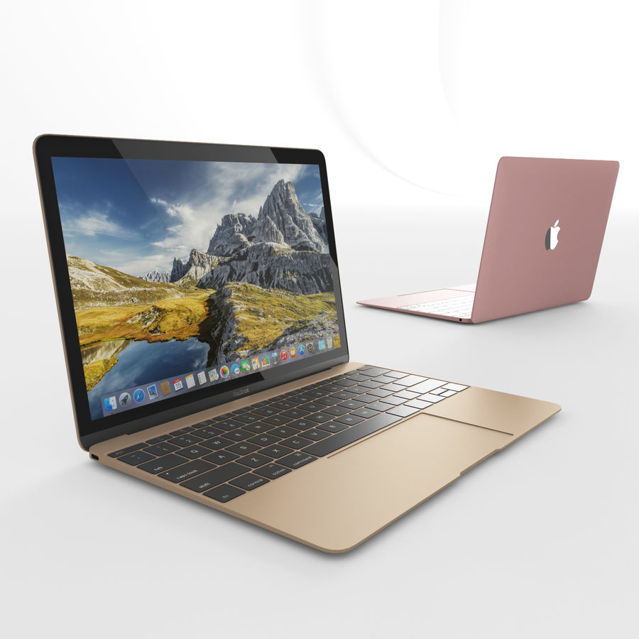 MacBook 2015 royalty-free 3d model - Preview no. 2