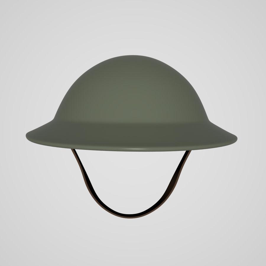 British brodie helmet royalty-free 3d model - Preview no. 6