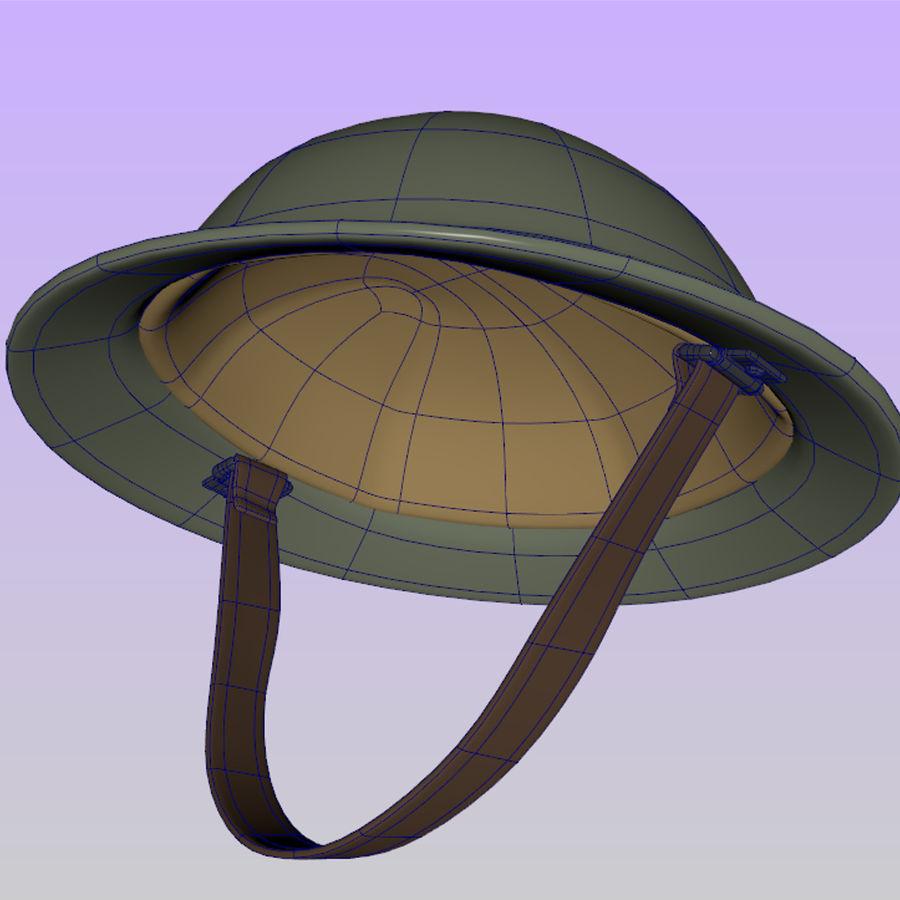 British brodie helmet royalty-free 3d model - Preview no. 4