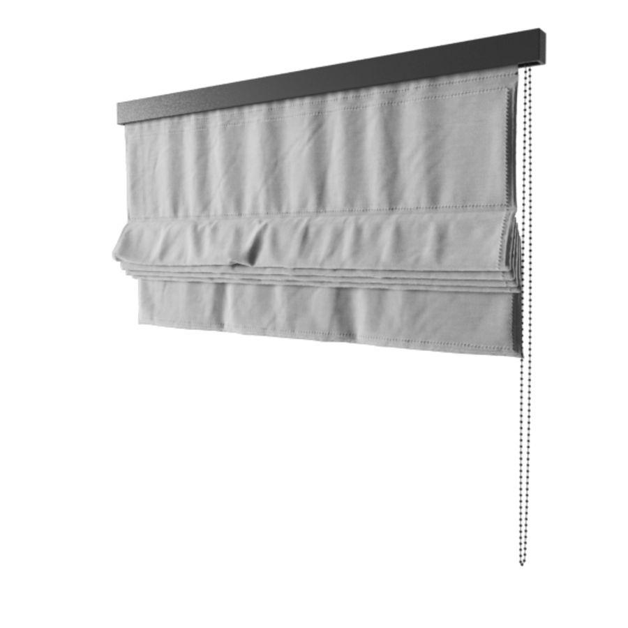 Roman curtain shade 3D Model $3 -  dwg  obj  fbx  max - Free3D