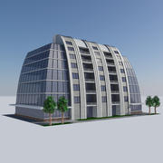 Futuristic Apartment City Building HD - Modern Housing Concept 3d model
