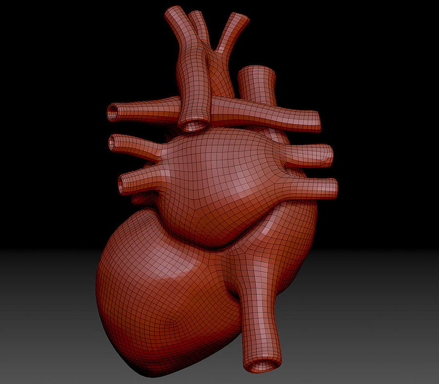 Heart Mesh royalty-free 3d model - Preview no. 9