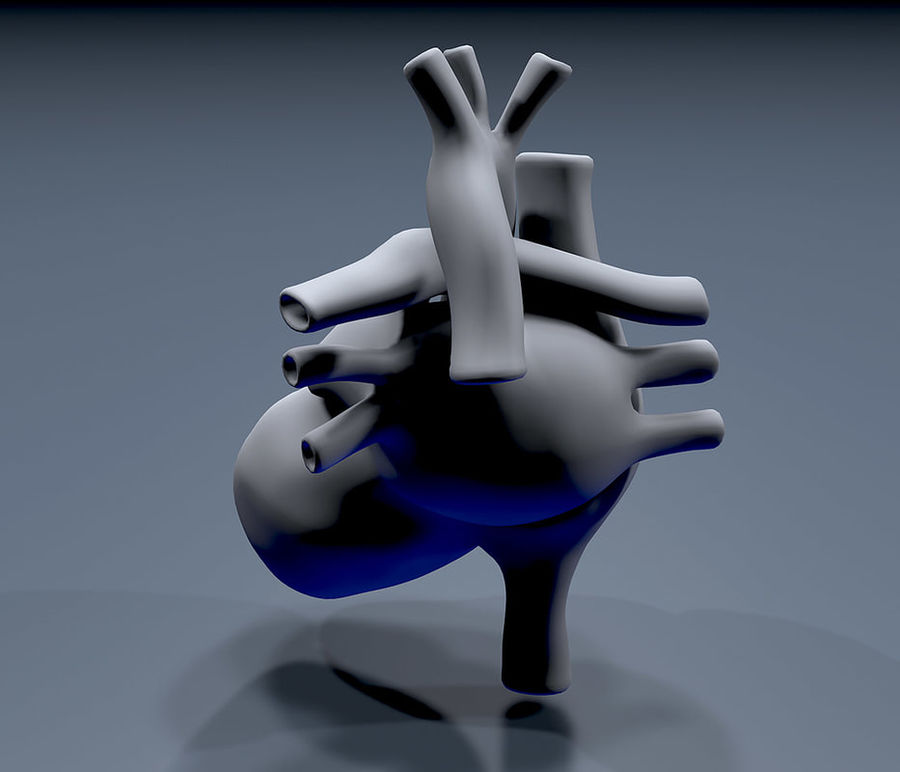 Heart Mesh royalty-free 3d model - Preview no. 6