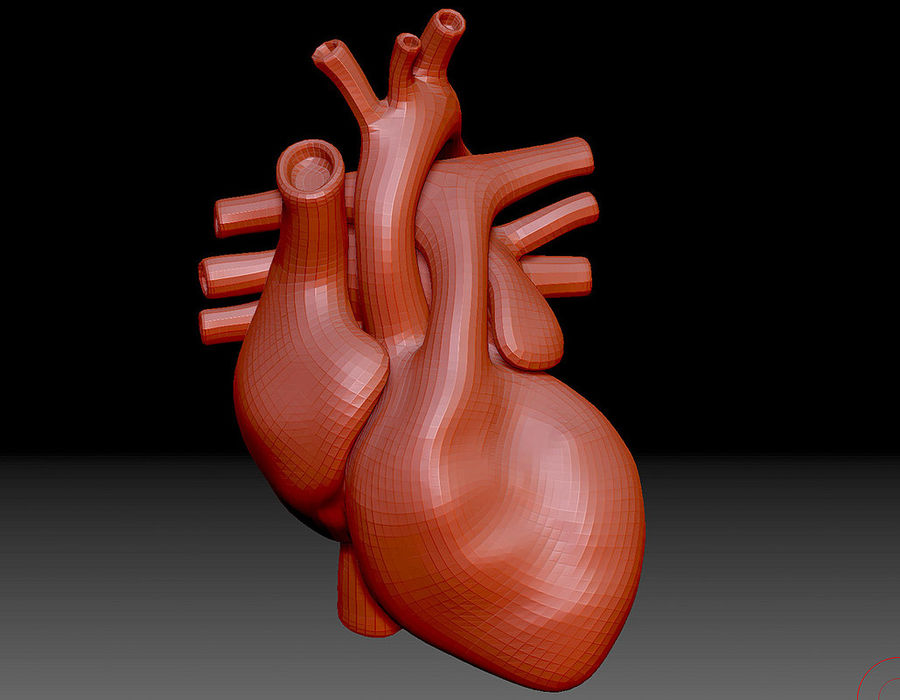 Heart Mesh royalty-free 3d model - Preview no. 3