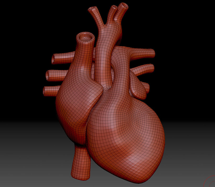 Heart Mesh royalty-free 3d model - Preview no. 11