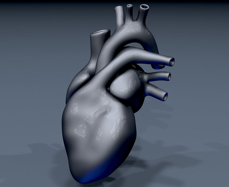 Heart Mesh royalty-free 3d model - Preview no. 4