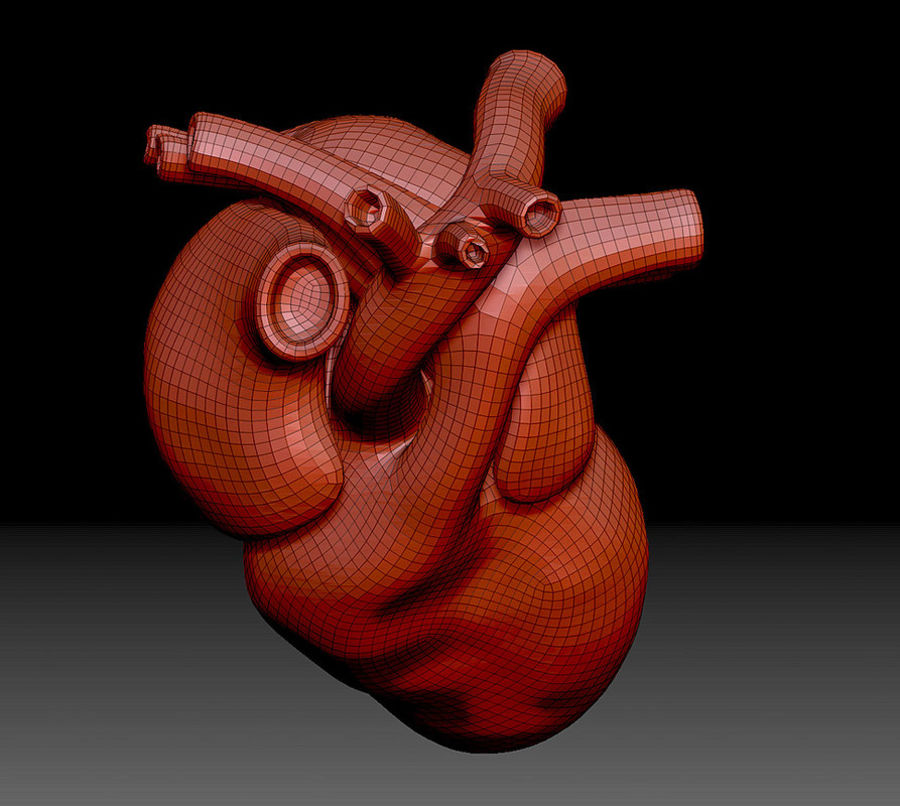 Heart Mesh royalty-free 3d model - Preview no. 7