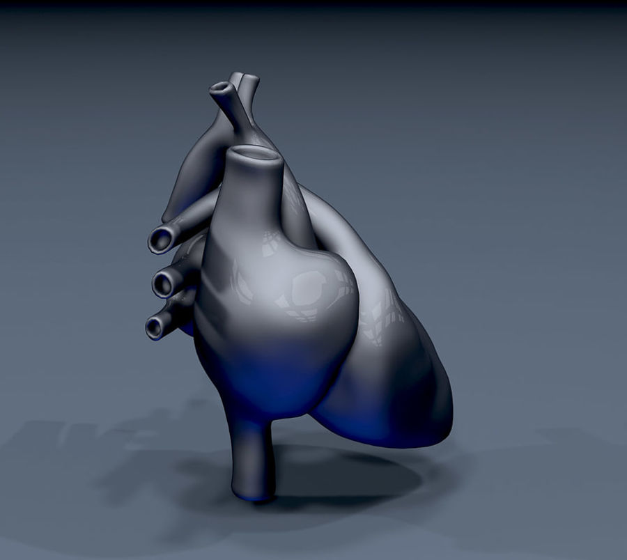 Heart Mesh royalty-free 3d model - Preview no. 5
