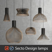 Scandinavian (finnish) Secto Design interior lamps set (Vray and Corona) 3d model