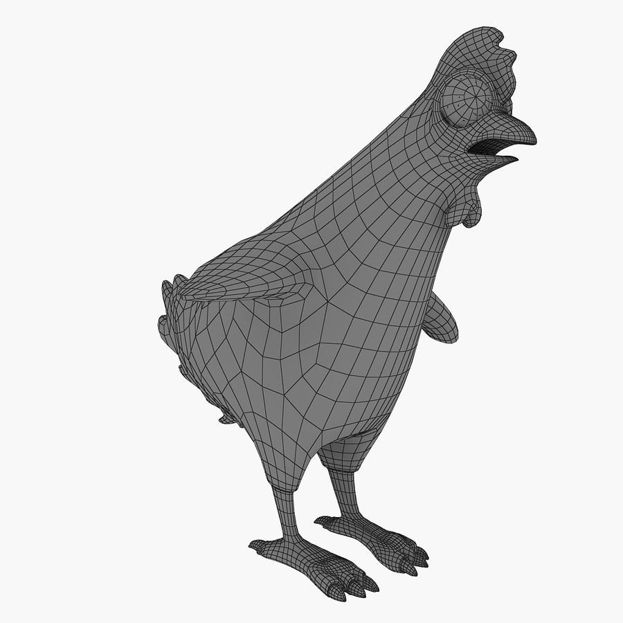 Chicken royalty-free 3d model - Preview no. 8