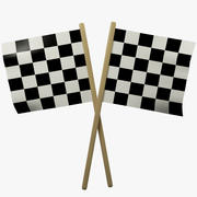 Racing vlaggen 3d model