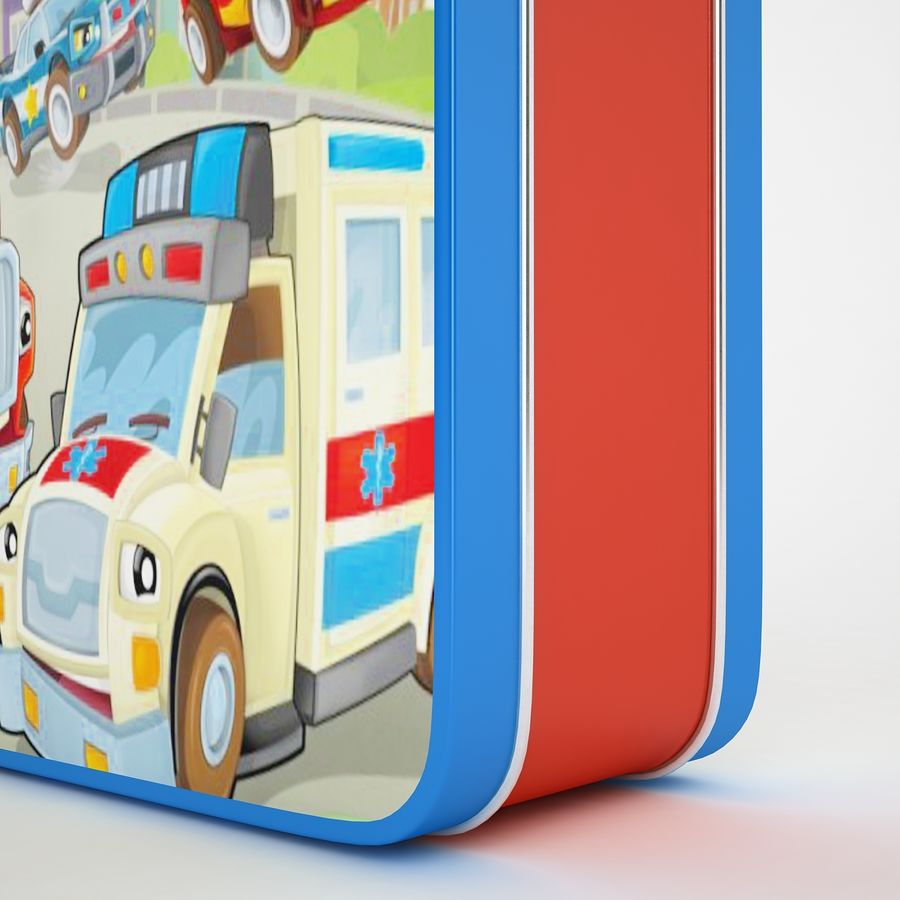 Metal Lunch Box 05 royalty-free 3d model - Preview no. 13