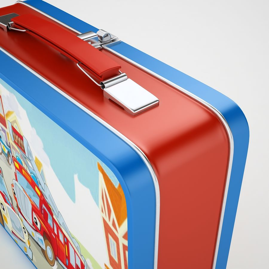 Metal Lunch Box 05 royalty-free 3d model - Preview no. 21