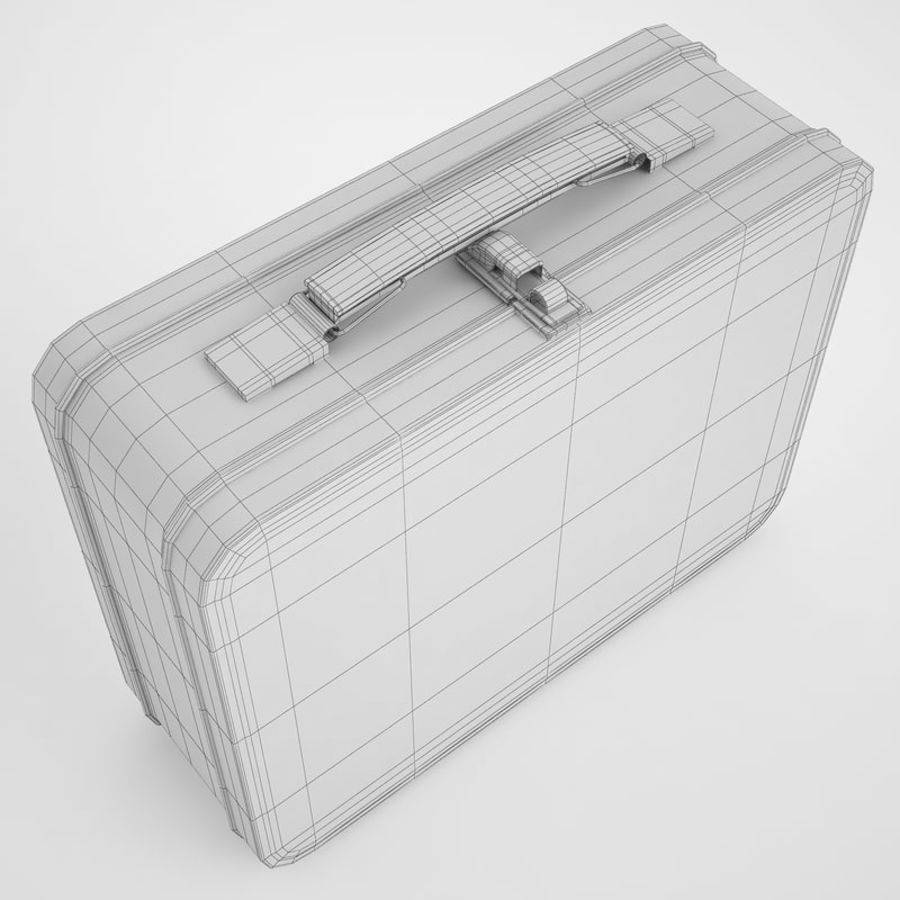 Metal Lunch Box 05 royalty-free 3d model - Preview no. 8