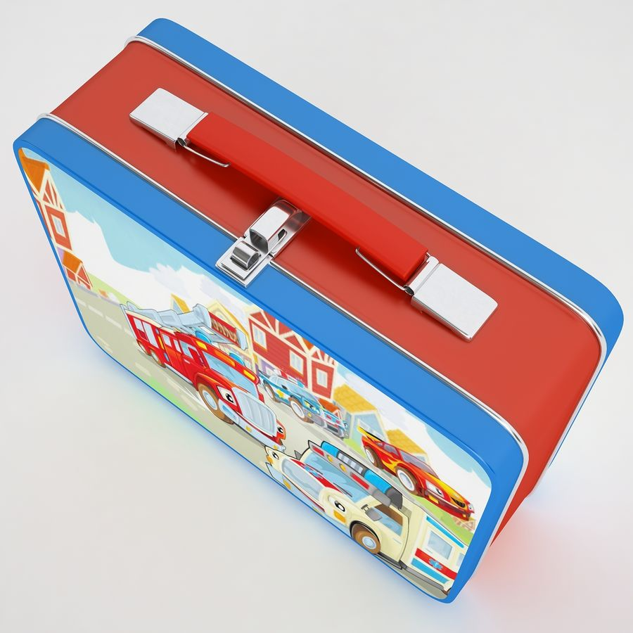 Metal Lunch Box 05 royalty-free 3d model - Preview no. 9