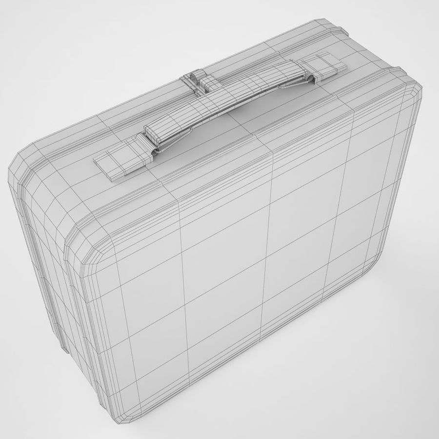 Metal Lunch Box 05 royalty-free 3d model - Preview no. 12