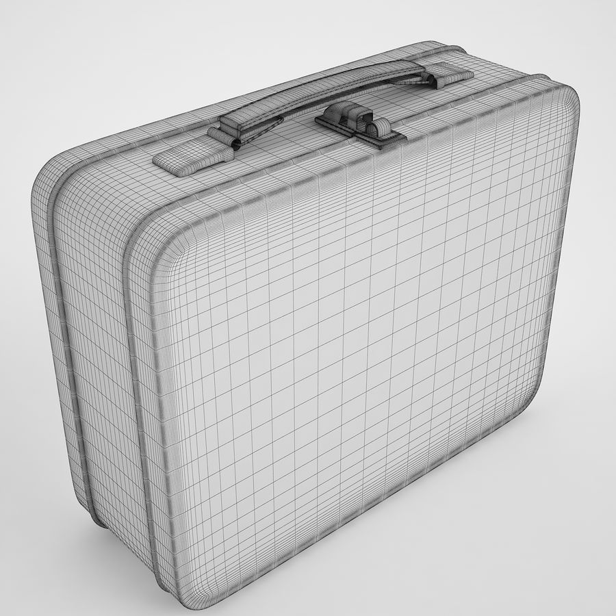 Metal Lunch Box 05 royalty-free 3d model - Preview no. 3