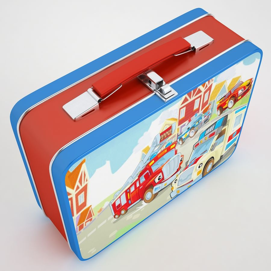 Metal Lunch Box 05 royalty-free 3d model - Preview no. 7