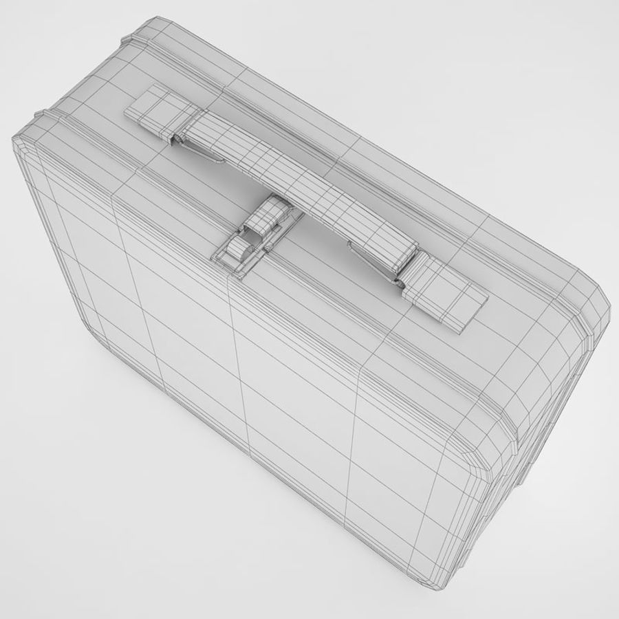 Metal Lunch Box 05 royalty-free 3d model - Preview no. 10