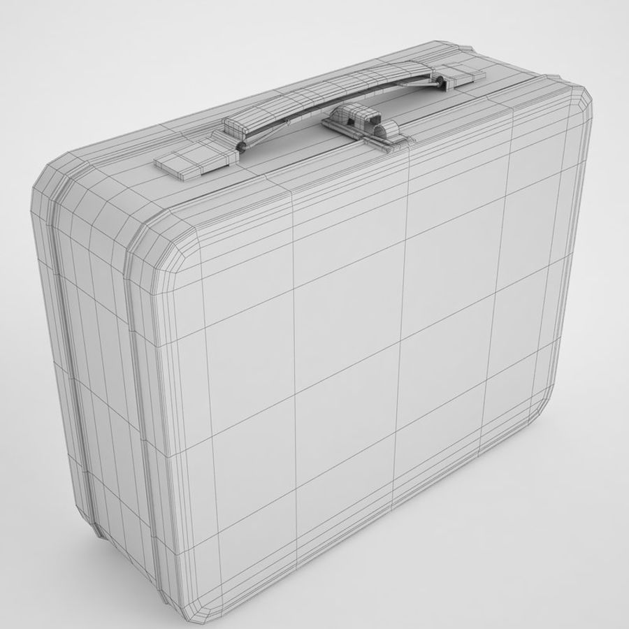 Metal Lunch Box 05 royalty-free 3d model - Preview no. 4