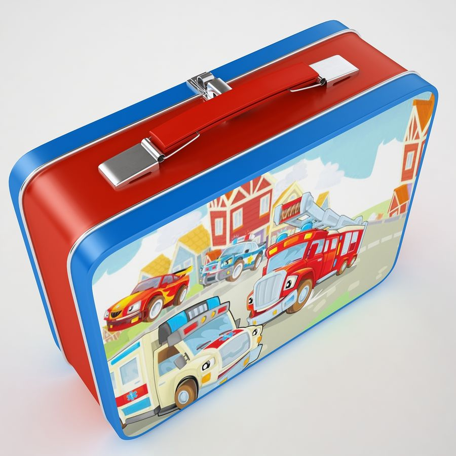 Metal Lunch Box 05 royalty-free 3d model - Preview no. 11