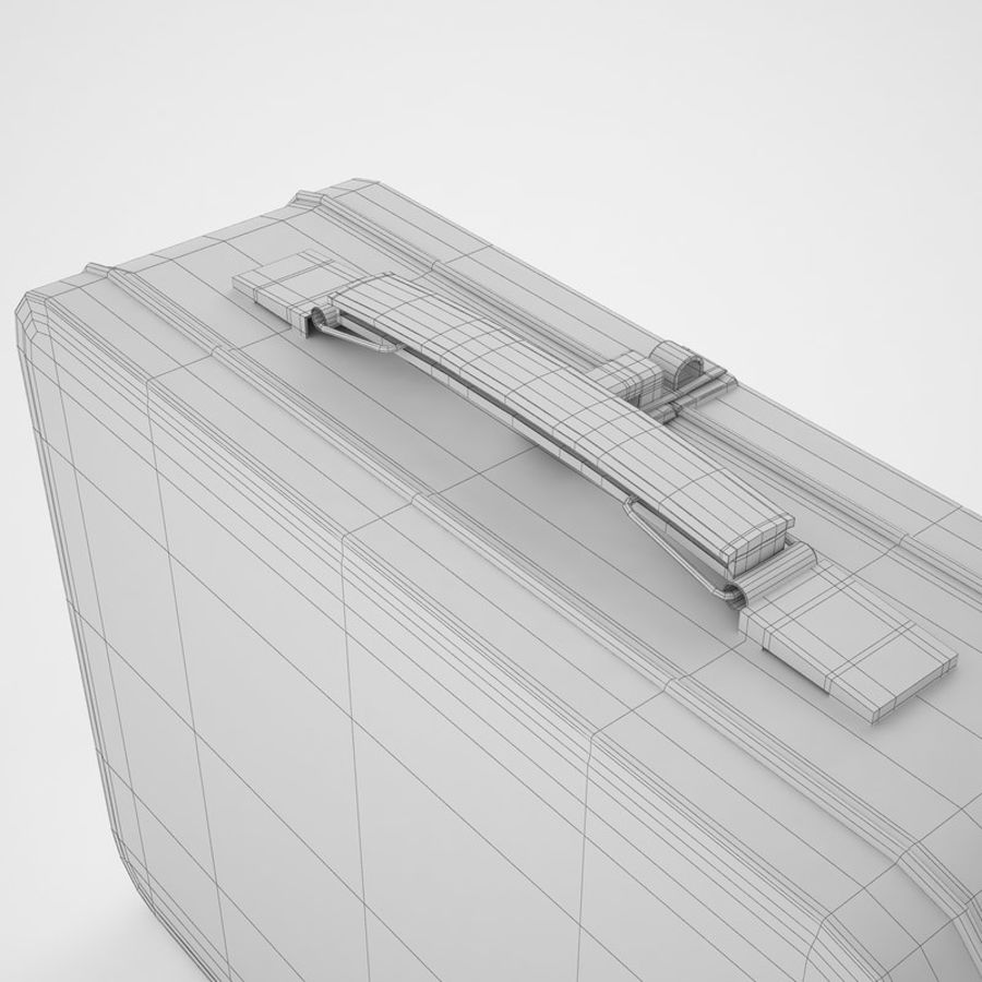 Metal Lunch Box 05 royalty-free 3d model - Preview no. 20