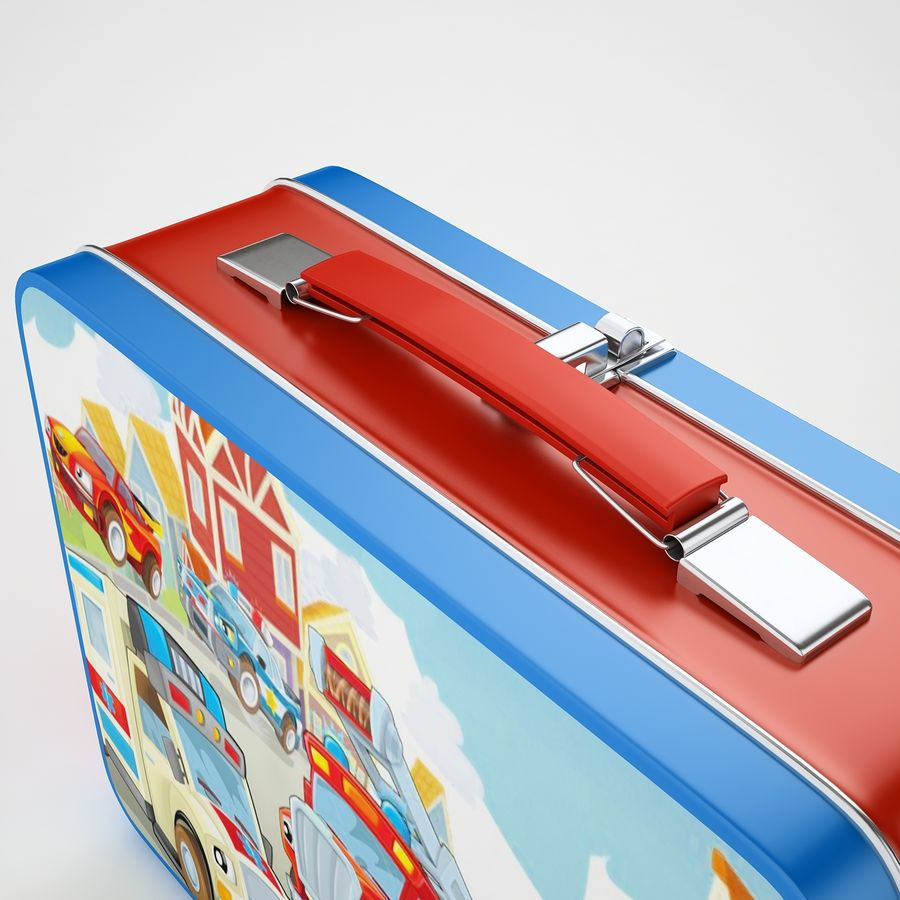 Metal Lunch Box 05 royalty-free 3d model - Preview no. 19