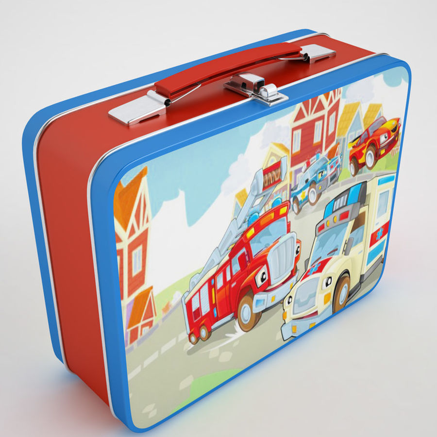 Metal Lunch Box 05 royalty-free 3d model - Preview no. 2
