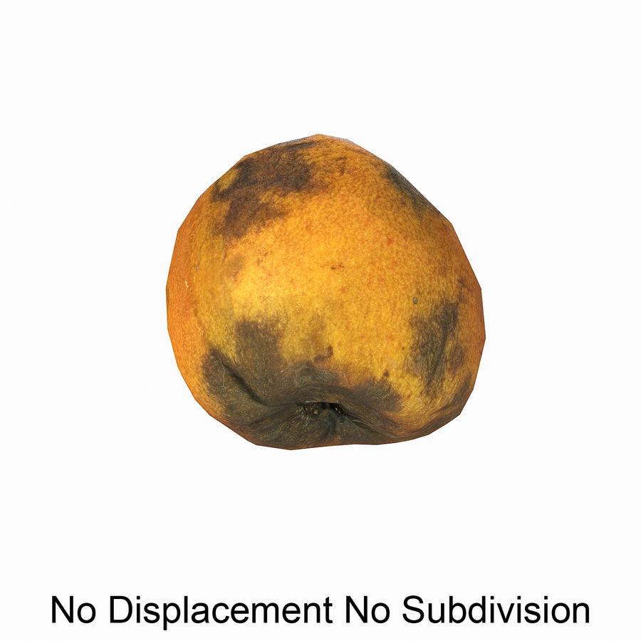 Rotten Rotte Apricot 03 royalty-free 3d model - Preview no. 14