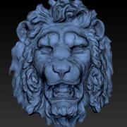 cabeza de león modelo 3d