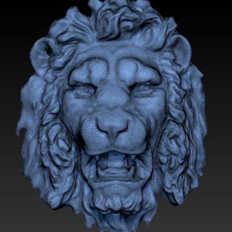 lejonhuvud royalty-free 3d model - Preview no. 1