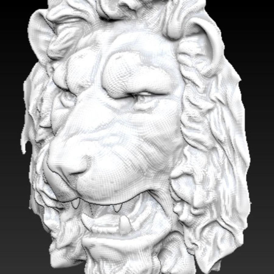 lejonhuvud royalty-free 3d model - Preview no. 4