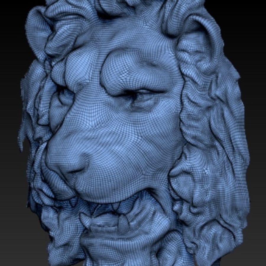 lejonhuvud royalty-free 3d model - Preview no. 2