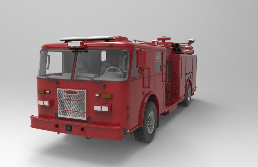 fire truck royalty-free 3d model - Preview no. 1